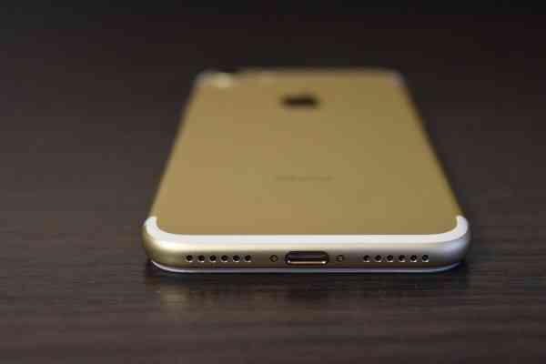 золотой iphone 7